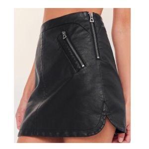 UO Silence + Noise Faux Leather Biker Mini Skirt